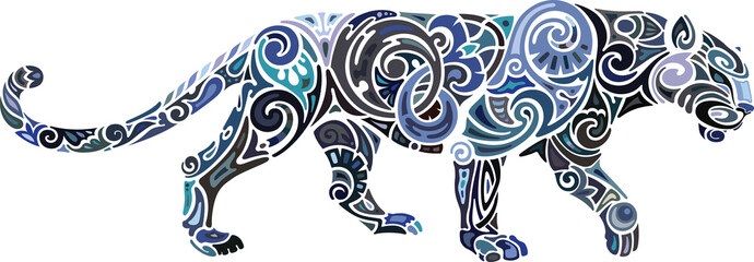 Panther, local colors, ornament