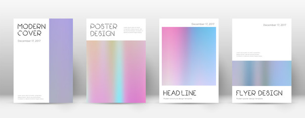 Flyer layout. Minimal tempting template for Brochure, Annual Report, Magazine, Poster, Corporate Presentation, Portfolio, Flyer. Appealing pastel hologram cover page.