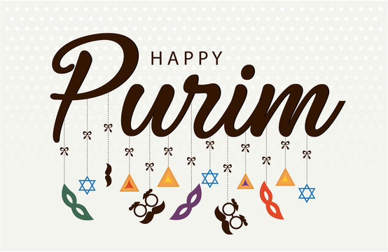 Happy Purim greeting card or background. vector illustration.