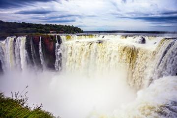 Waterfalls Iguazu in the rainy season