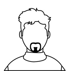 line avatar man with casual shirt and faceless