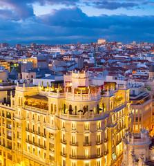Fototapete - Madrid aerial view, Spain