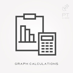 Line icon graph calculations