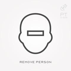 Line icon remove person