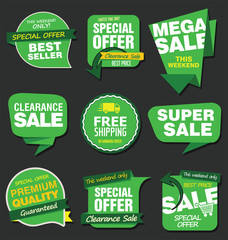 Sale stickers and tags vector collection