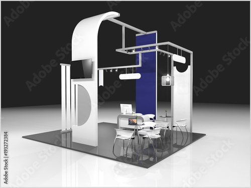 Modern Exhibition Stand Near Me : Exhibition stand modern design used for mock ups and branding and