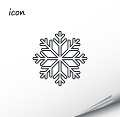 vector icon snowflake on a wrapped silver sheet