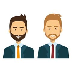 group of businessman teamwork vector illustration design