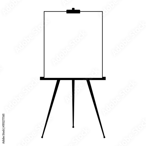 advertising stand or flip chart or blank artist easel isolated on