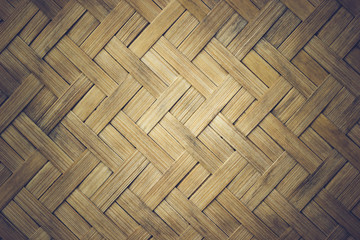 Closeup texture mats made of bamboo, The bamboo was cut into thin sheets and was woven into a piece.