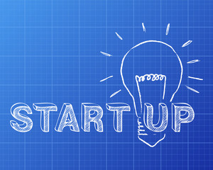 Start Up In Light Bulb Blueprint