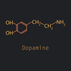 Dopamine icon, vector illustration