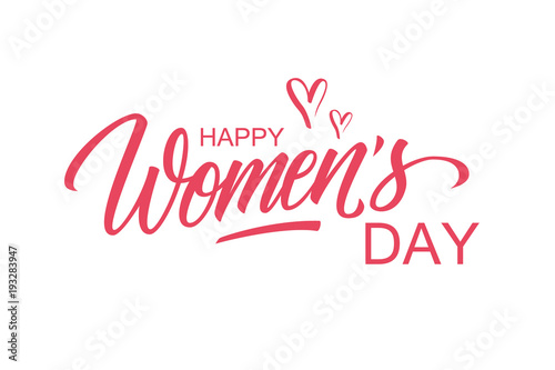 Hy Women S Day Greeting Card Template With Hand Lettering Text Design Creative Typography For Holiday