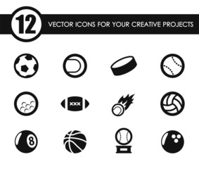 sport balls vector icons for your creative ideas