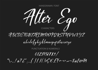 Typography alphabet for your designs logo, typeface, web banner, card, wedding invitation.