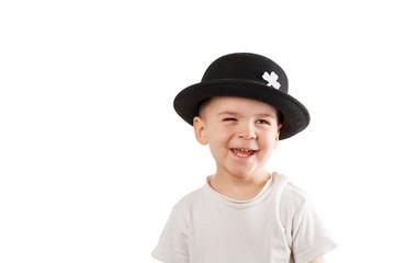 Little boy with Leprechaun hat