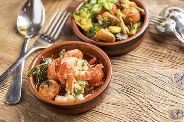 delicious rustic spanish mediterranean prawns tapas starters finger food