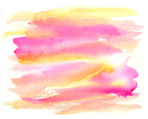 Abstract watercolor colorful background. Hand drawn watercolor splash.