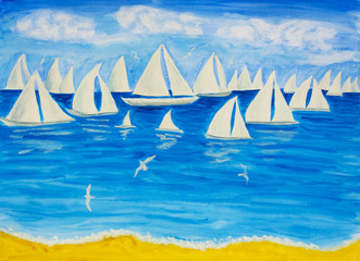 Sailing regatta white 4