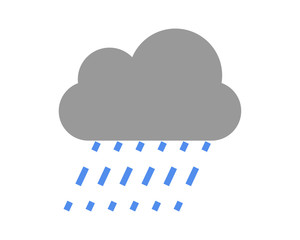 Rain icon vector color