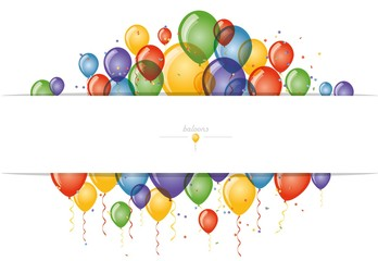 background for greating card with colored baloons