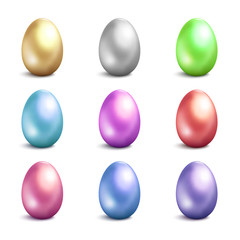 Easter eggs vector icons . Easter eggs isolated vector. Easter eggs for Easter holidays design. Easter eggs isolated on white background. Easter eggs