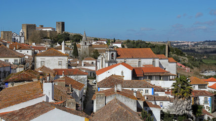 Obidos- beautiful medieval town, very popular tourist destination in Portugal