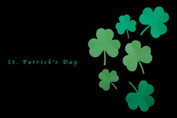 Happy St. Patrick's Day good concept card.