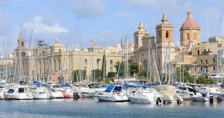 Vittoriosa one of the three cities across Valletta bay, Malta