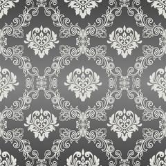 Seamless damask pattern for background or wallpaper design. Vector vintage floral seamless pattern element.