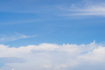 Blue sky with cloud as background