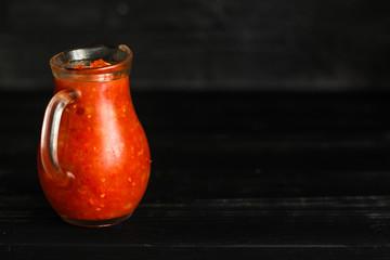 tomato sauce (adjika) vegetable snack spicy