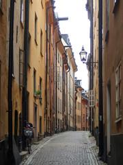 Fototapeta Urocze wąskie uliczki Sztokholmu obraz