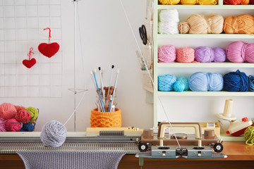 Hand Knitting Machine. A knitting machine is a device used to create knitted fabrics.