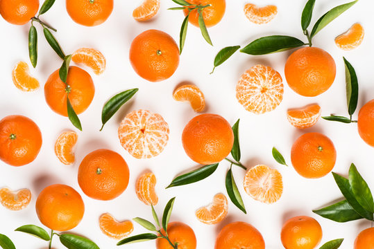 Tangerines above view.