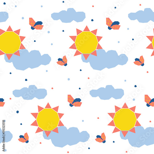 Abstract sun seamless pattern background childish simple abstract sun seamless pattern background childish simple application sun and ladybug cover for design card stopboris Image collections