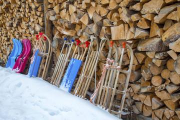 Schlitten - Rodel - Bobs - Winter - Allgäu