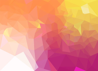 gradient sweet color polygon background