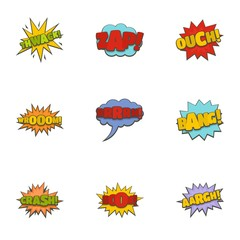 Thorn icons set. Cartoon set of 9 thorn vector icons for web isolated on white background