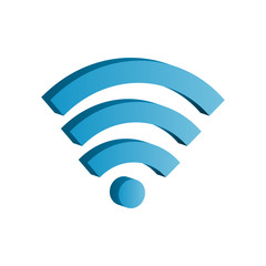 3d wifi icon vector illustration. Free royalty images.