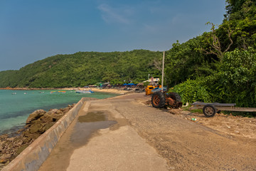 A small street to a beach of Koh Larn in Thailand
