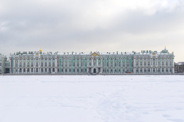 building of the winter Palace, the Hermitage Museum in Saint Petersburg, view from the river