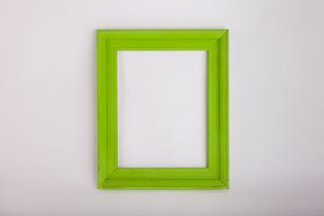 Green frame on white background