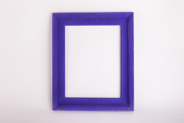 Purple picture frame on white background