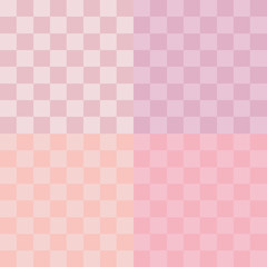 Pixel art style pink vector background with squares