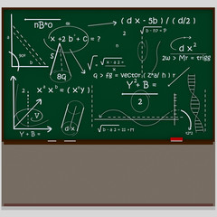 Chalkboard maths scientific.