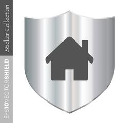 Dark Shield Icon - Home