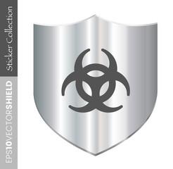 Dark Shield Icon - Biohazard