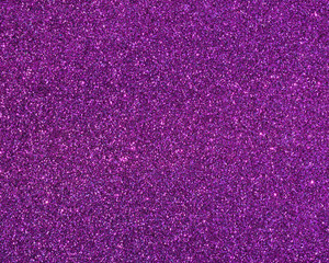 Close up purple glitter background