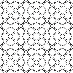 Seamless vintage moroccan lattice trellis pattern background